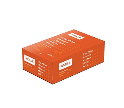 RXBAR Whole Food Protein Bar, Pumpkin Spice, 1.83 Ounce (Pack of - Shop Rx
