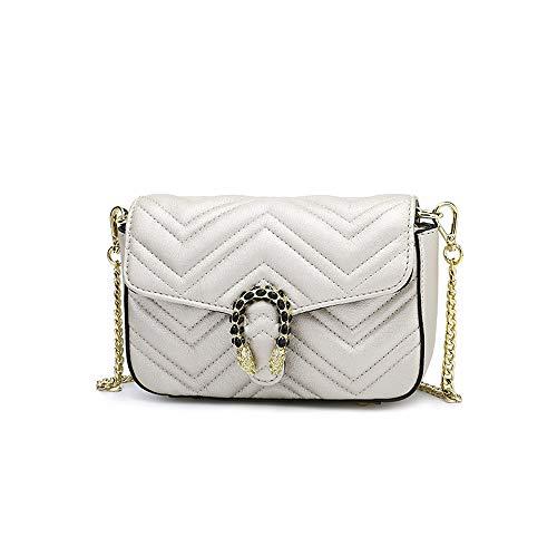 La Bandoulière Lady À Main Mode Ethba Élégant Blanc Sac Blanc Pour Petit Chaîne Taille Carré couleur Femmes 13cm 7 20 qE17t