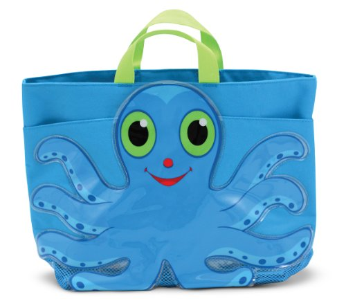 - Melissa & Doug Sunny Patch Flex Octopus Large Beach Tote Bag With Mesh Panels