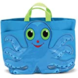 Melissa & Doug Sunny Patch Flex Octopus Large Beach Tote Bag With Mesh Panels