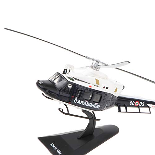 MagiDeal 1/43 Alloy Diecast Warplane Model - Agusta AB-412 1984 Helicopter Figure Airforce Aircraft Plane Model Kids Toy Soldier ()