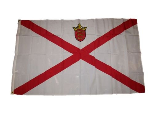 Moon Knives 3x5 Country of Jersey Flag 3x5 Brass Grommets -