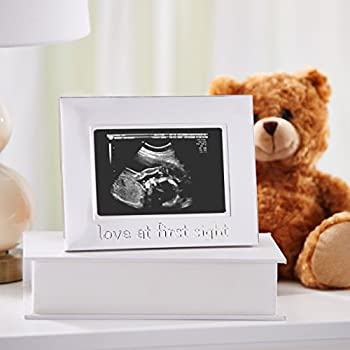 Tiny Ideas Sonogram Keepsake Photo Frame, Silver 1