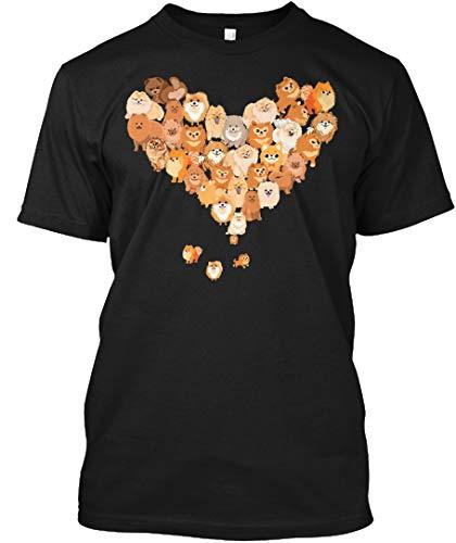 Pomeranian Heart 5XL - Black Tshirt - Hanes Tagless Tee