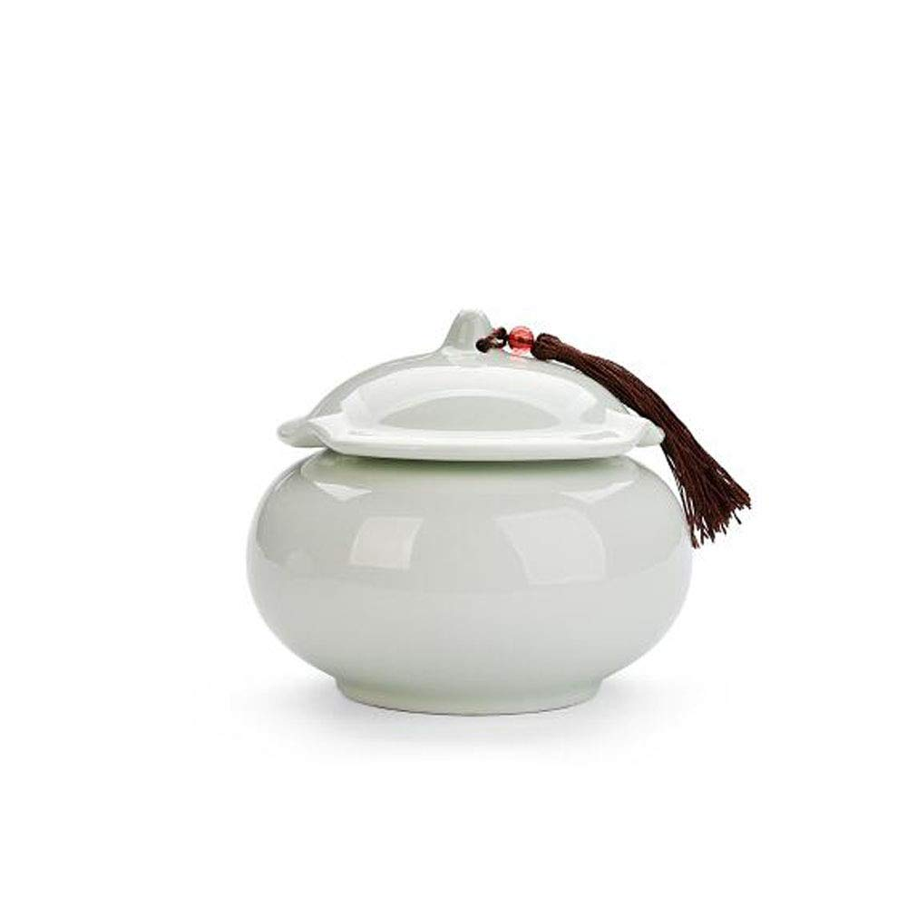 Pink Zhongyue Commemorative Cremation Ceremony Dedicated to Ashes Affordable Ceramic Series for Dog Funeral 5 Inches in Diameter Available in Light Green Cat and Dog Casket (color   Pink)