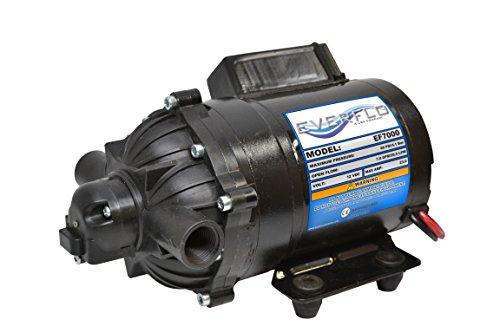 (Everflo EF7000-BOX 7.0 GPM 12V Diaphragm Pump-1/2 FNPT Connection)