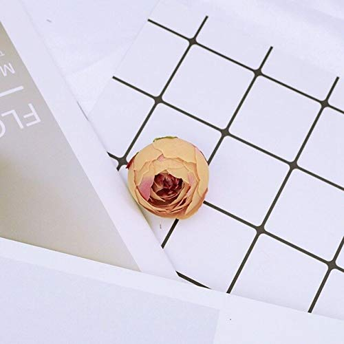 Chiyo By 4CM Artificial Flowers Silk Tea Buds Roses DIY Gifts Box Christmas Home Party Wedding Decoration Fake Christmas Garland ()