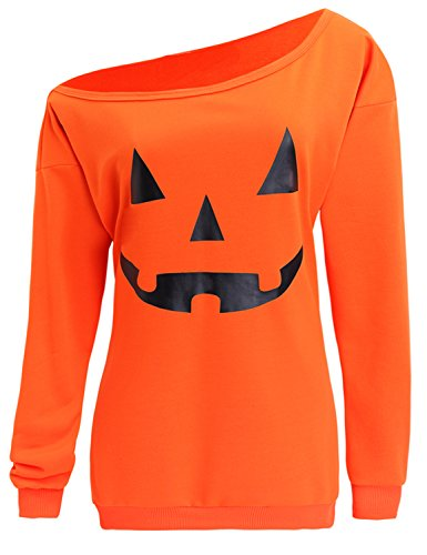 TWKIOUE Women Blouse, Women Halloween Sweatshirt Off, used for sale  Delivered anywhere in USA