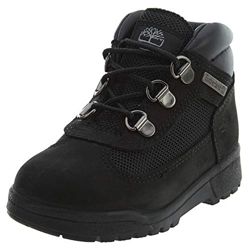 b91e1000b0d6 Timberland Kids Unisex Fabric Leather Field Boot (Toddler Little Kid) Black  Waterbuck Nubuck 7.5 M US Toddler M