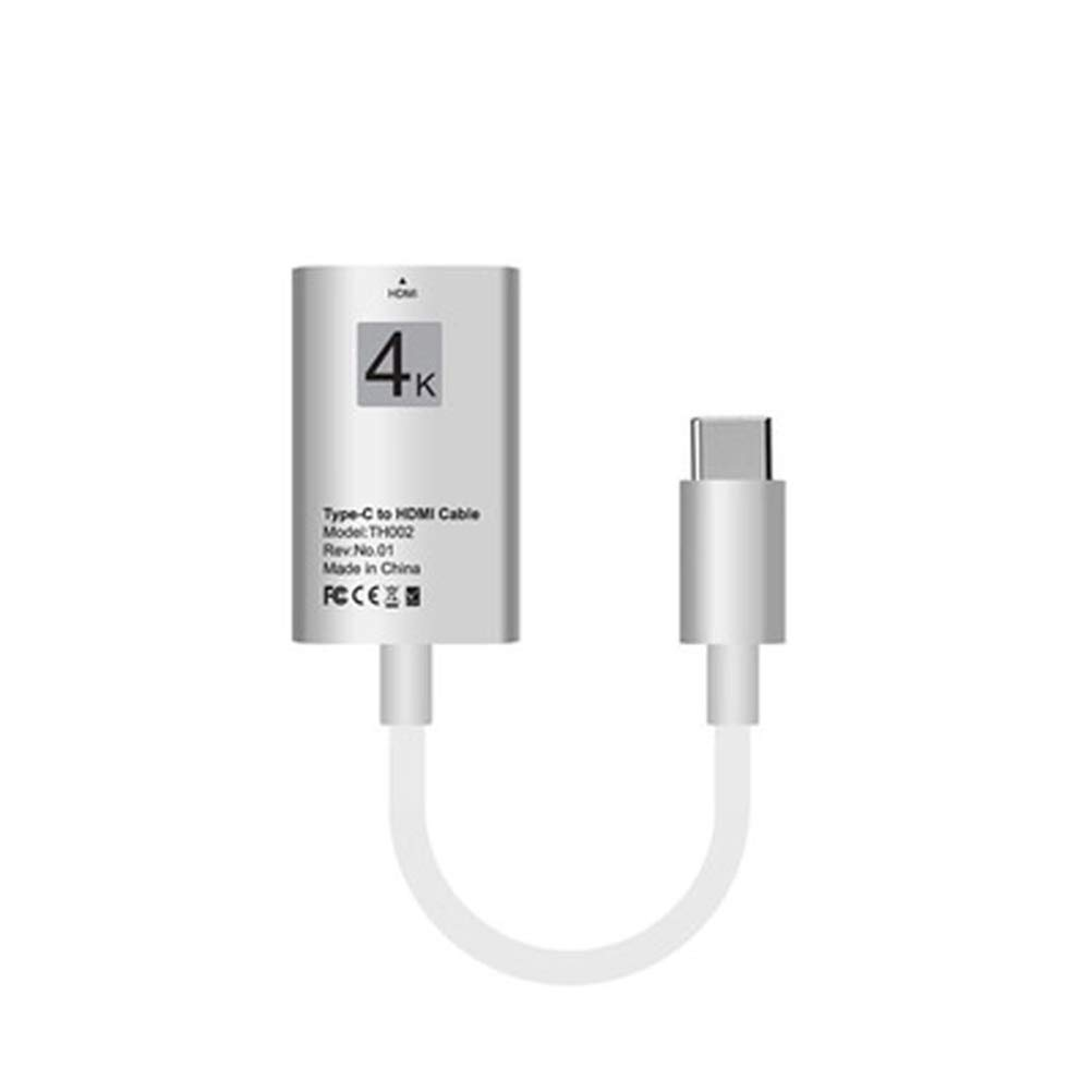 Type-C to HDMI 4K Ultra HD Adapter Cable USB 3.1 for Mibile Phone MacBook Samsung LG HTC (White)