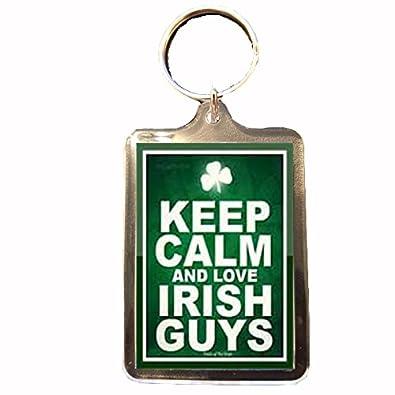 7d3d6181234762 Amazon.com  Love Irish Guys - Novelty Keep Calm Keyring  Shoes