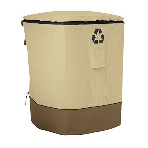 (Classic Accessories Veranda 96-Gallon Rolling Recycling Cart Cover)