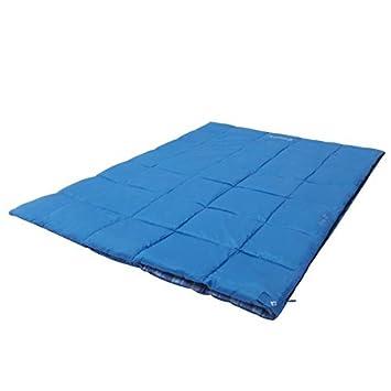 Kingcamp activo 250 doble Envelope saco de dormir para 2 personas Festivales de camping azul: Amazon.es: Deportes y aire libre