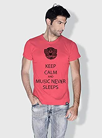 Creo Keep Calm Trendy T-Shirts For Men - M, Pink