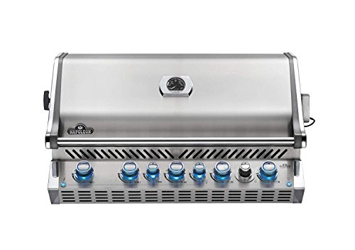Napoleon BIPRO665RBNSS-3 Burner, Stainless Steel Built-in Prestige PRO 665 Natural Gas Grill Head with Infrared Rear B -