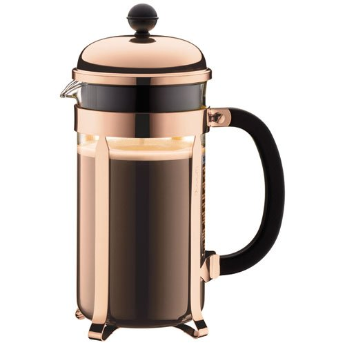 BODUM 1928-18 Chambord Shatterproof French Press Coffee Maker, 34 Oz, Copper