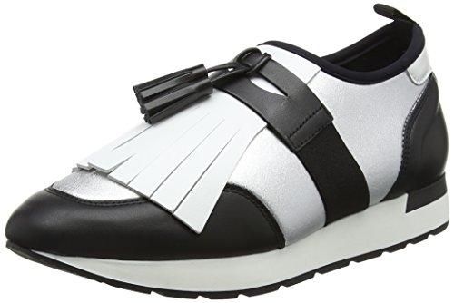 Pollini W.Sneakers, Sneaker Infilare Donna Multicolore (Neo.lm Arg+vit.ne+bi 90d)