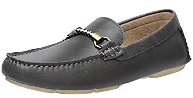CAMEL CROWN Men's Slip on Casual Loafers Driving Boat Shoes Grey Size: 7.5