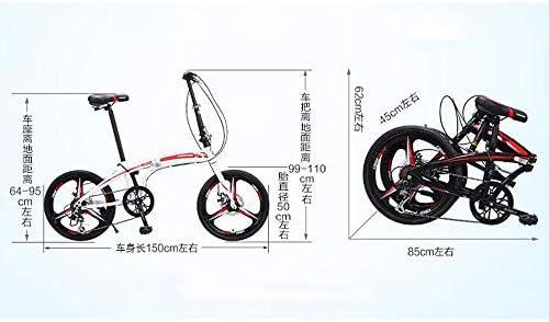 20インチ折りたたみ自転車 フロントとリアのディスクブレーキマウンテンバイク 男性と女性の学生自転車 シティ変速自転車