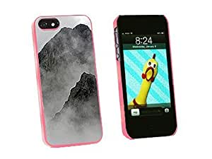 Graphics and More Mist Covered Mountains Misty Snap-On Hard Protective For Iphone 5C Phone Case Cover - Non-Retail Packaging - Pink
