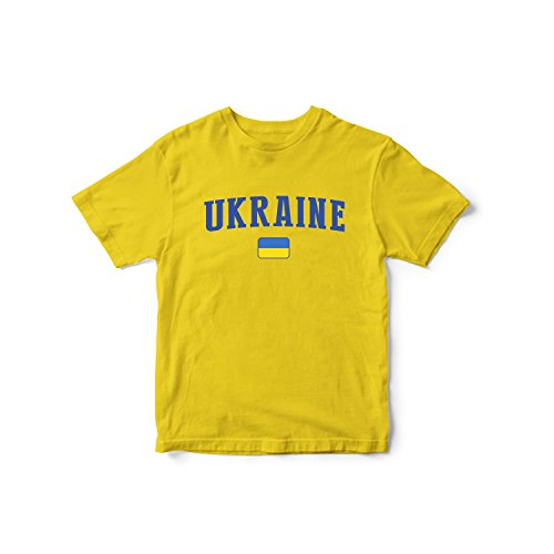 (nobrand Ukraine World Cup T-Shirt Team Flag for Kids & Mens (Infant Yellow 2 T))