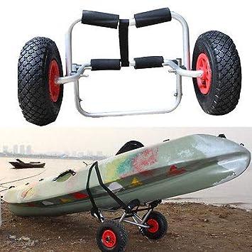 Carro genérico para Kayak, Canoa, Carrito, con Ruedas, neumático y neumático con Correa, Plegable, Resistente, Resistente: Amazon.es: Electrónica