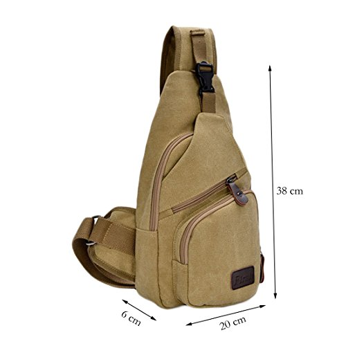 Chest Sling Sport ENKNIGHT Travel Khaki Hiking Canvas Pack Bag bag Bag fw5qBCtqxg