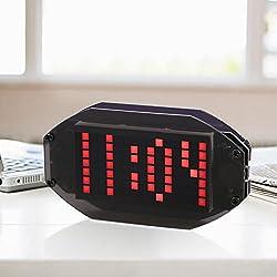 KKmoon DIY Black Digital LED Clock Matrix Desktop Alarm Clock Electronic Learning Kit Module with Remind Function ℃/℉ Temperature Display Indoor Thermometer Adjustable LED Luminance