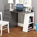 Best TMS Writing Desks - Como Writing Desk,White/Gray Review