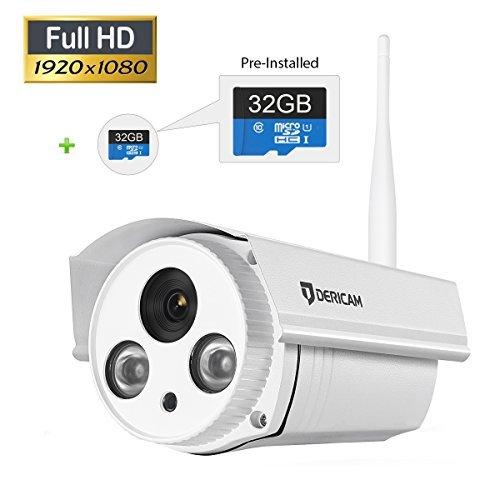 Dericam Outdoor Wifi Wireless Ip Security Camera Bullet