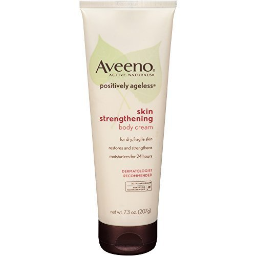 AVEENO Active Naturals Positively Ageless Skin Strengthening Body Cream 7.3 OZ - Buy Packs and SAVE (Pack of 2)