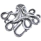 Silver Octopus Drawer Knob - Nautical Cabinet Knob Octopus