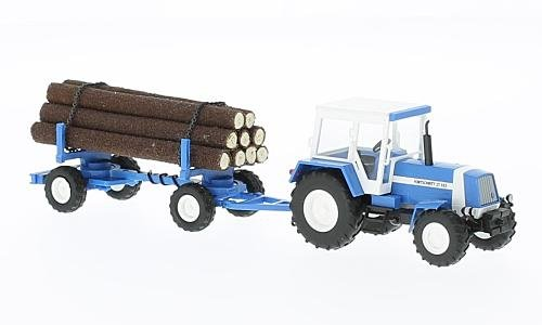 Busch 50404 ZT 323 Tractor with Log Load HO Scale Model Vehicle