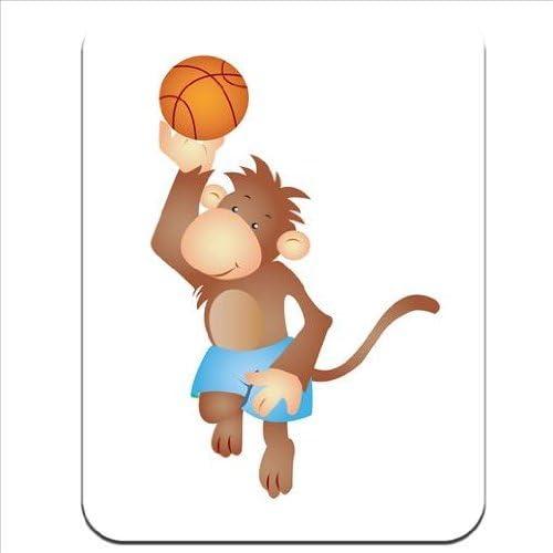 Hairy de mono jugando al baloncesto de goma gruesa para ...