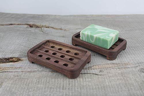 Wooden Draining Walnut Soap Dish