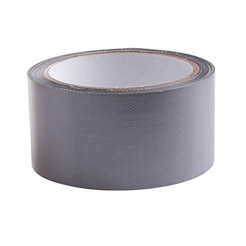 mexud-10m-x-50mm-waterproof-sticky-adhesive-cloth-duct-tape-roll-craft-repair-8-color-silvery-gray