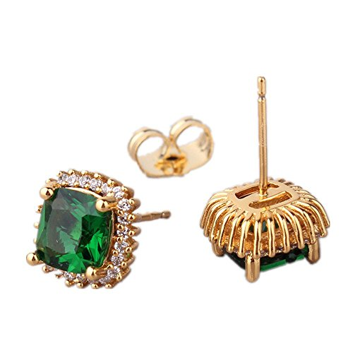 Neroy-Jewelry-European-and-American-Fashion-Earring-Emerald-Stud-Earing-24K-Yellow-Gold-Filled-Earrings-for-Women-E015c