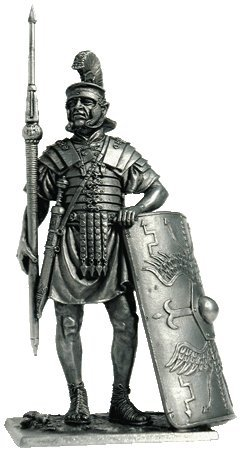 Roman Legionnaire 1st century AD Tin Toy Soldiers Metal Sculpture Miniature Figure Collection 54mm A174 scale 1//32