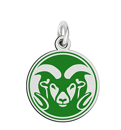 Colorado State CSU Rams Sterling Silver Logo Charm by College Jewelry
