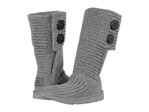 UGG Girls K Cardy II Pull-on Boot, Grey, 5 M US Big Kid ()
