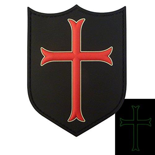 US Navy Seals DEVGRU Crusaders Templar Knight Cross Morale PVC 3D Touch Fastener (Knight Unit)