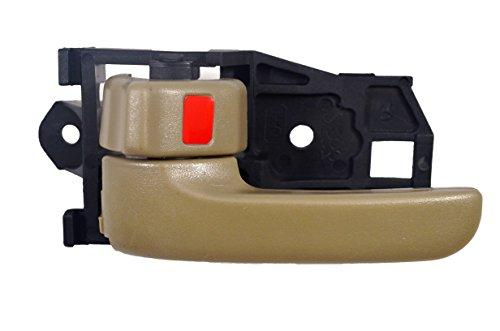 PT Auto Warehouse TO-2567E-LH Inside Interior Inner Door Handle Beige//Tan Driver Side