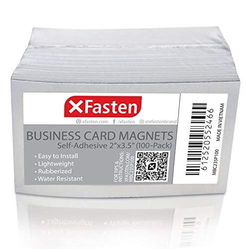 - XFasten Self Adhesive Business Card Magnets, Pack of 100