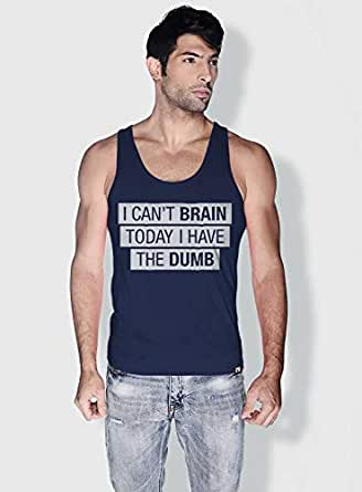 Creo I Cant Brain Today Funny Tanks Tops For Men - S, Blue