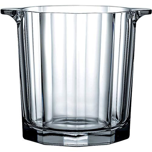 Socean Wine cooler - thickened glass ice bucket, beer/champagne/wine refrigerated barrel, suitable for bar/outdoor dinner/home life.
