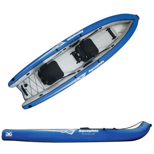 Aquaglide Schlauchboot Aufblasbares Kajak Rogue Two Kanu, 309cm x 81cm L B Luftboot 2 Personen