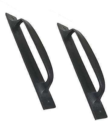 2) asas de hierro plano de 11 pulgadas DS-01 para puerta, garaje ...