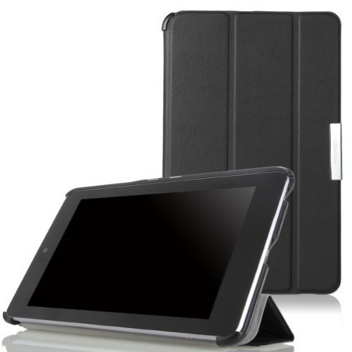MoKo Google Nexus 7 Case - Ultra Slim Lightweight Smart-shell Stand Cover Case for Google Nexus 7 inch Tablet by ASUS, BLACK (with Smart Cover Auto Wake/Sleep)