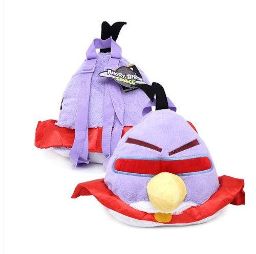 Angry Bird Space Lazer Purple Bird Plush Doll Backpack (kids to (Angry Birds Lazer Bird)