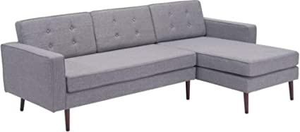 Groovy Amazon Com Zuo Modern 100579 Puget Sectional Sofa Gray Dailytribune Chair Design For Home Dailytribuneorg